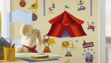 Big Top Circus Peel & Stick Wall Decals
