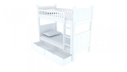 FLYNN BUNK BED WHITE