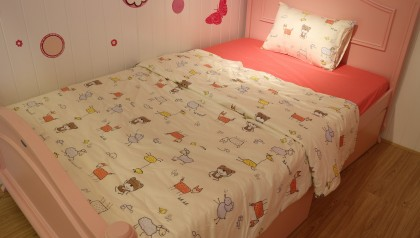 Bedding set pink animals 140cm